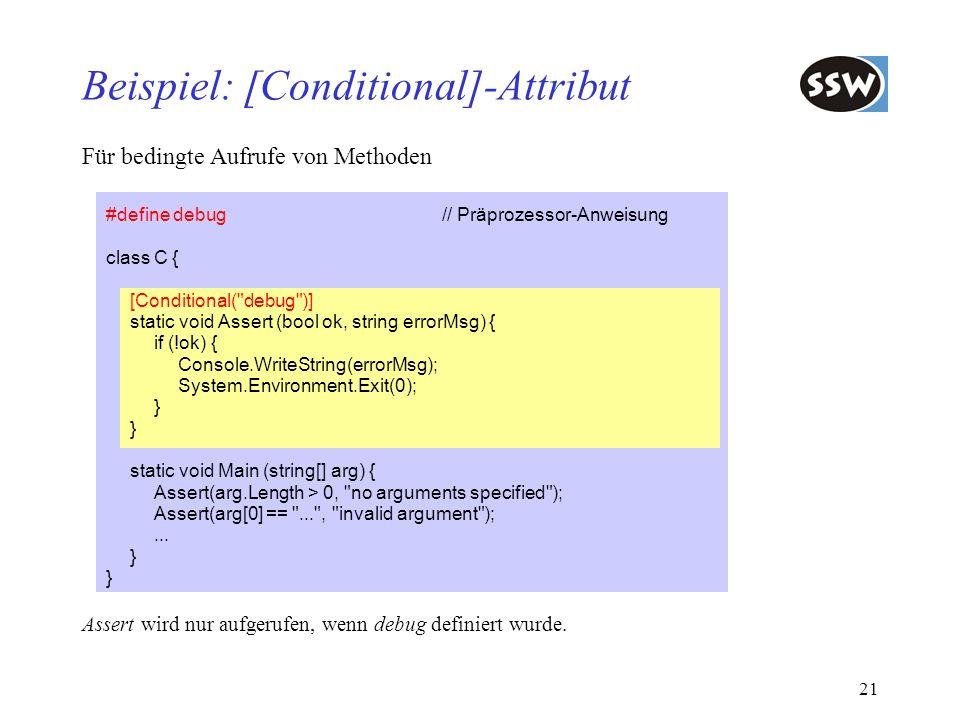 Beispiel: [Conditional]-Attribut